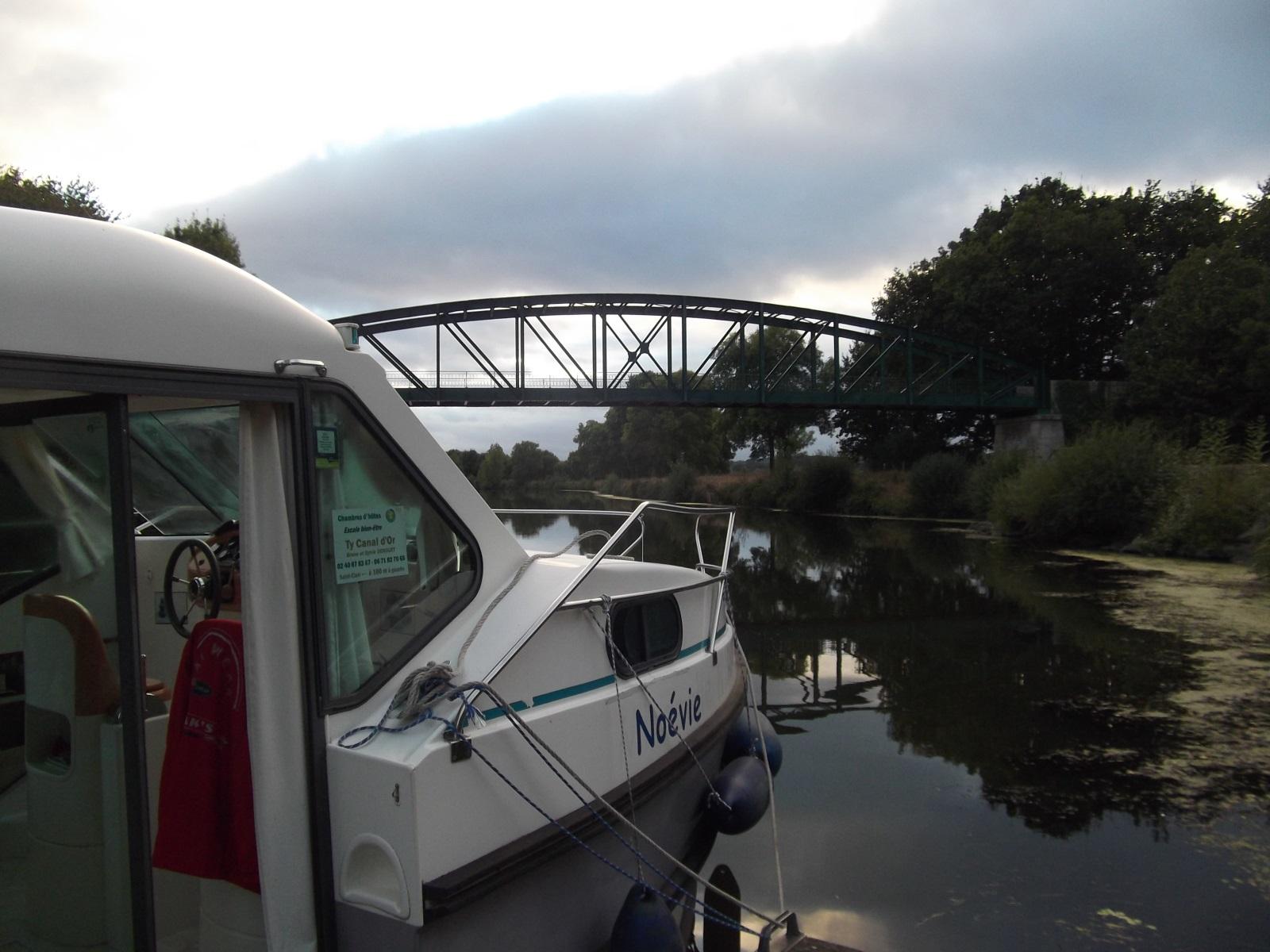 Balade en bateau sur le canal de nantes à brest